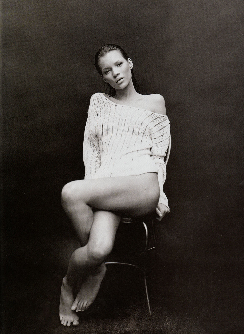 Kate Moss in Body of evidence | Harper's Bazaar US July 1993 (photography: Patrick Demarchelier)