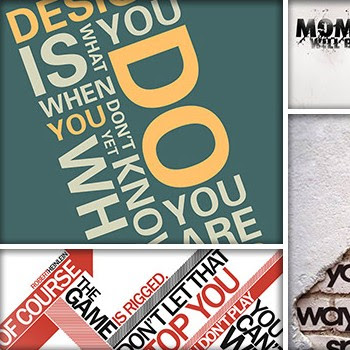 40 Beautiful and Inspiring Typographic Quotes