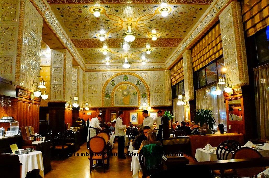 Restaurant, Imperial Hotel, Prague, Czech Republic