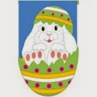 easter egg bunny applique garden flag