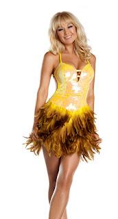 yellow feather dress viktor viktoria