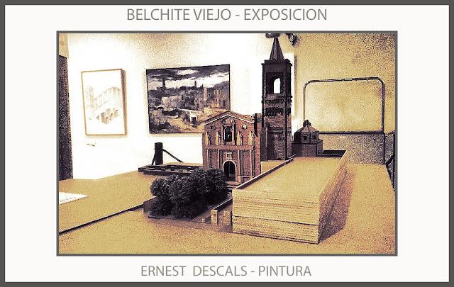BELCHITE-VIEJO-PINTURA-EXPOSICION-RUINAS-PAISAJES-PUEBLOS-GUERRA CIVIL-ESPAÑA-PINTURAS-ARTISTA-PINTOR-ERNEST DESCALS
