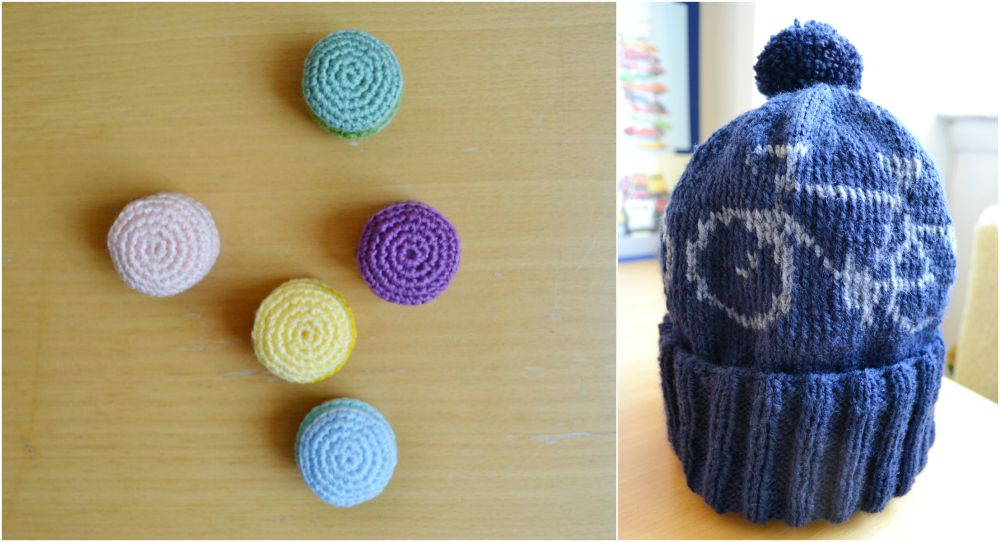 bicycle beanie knitted hat macarons
