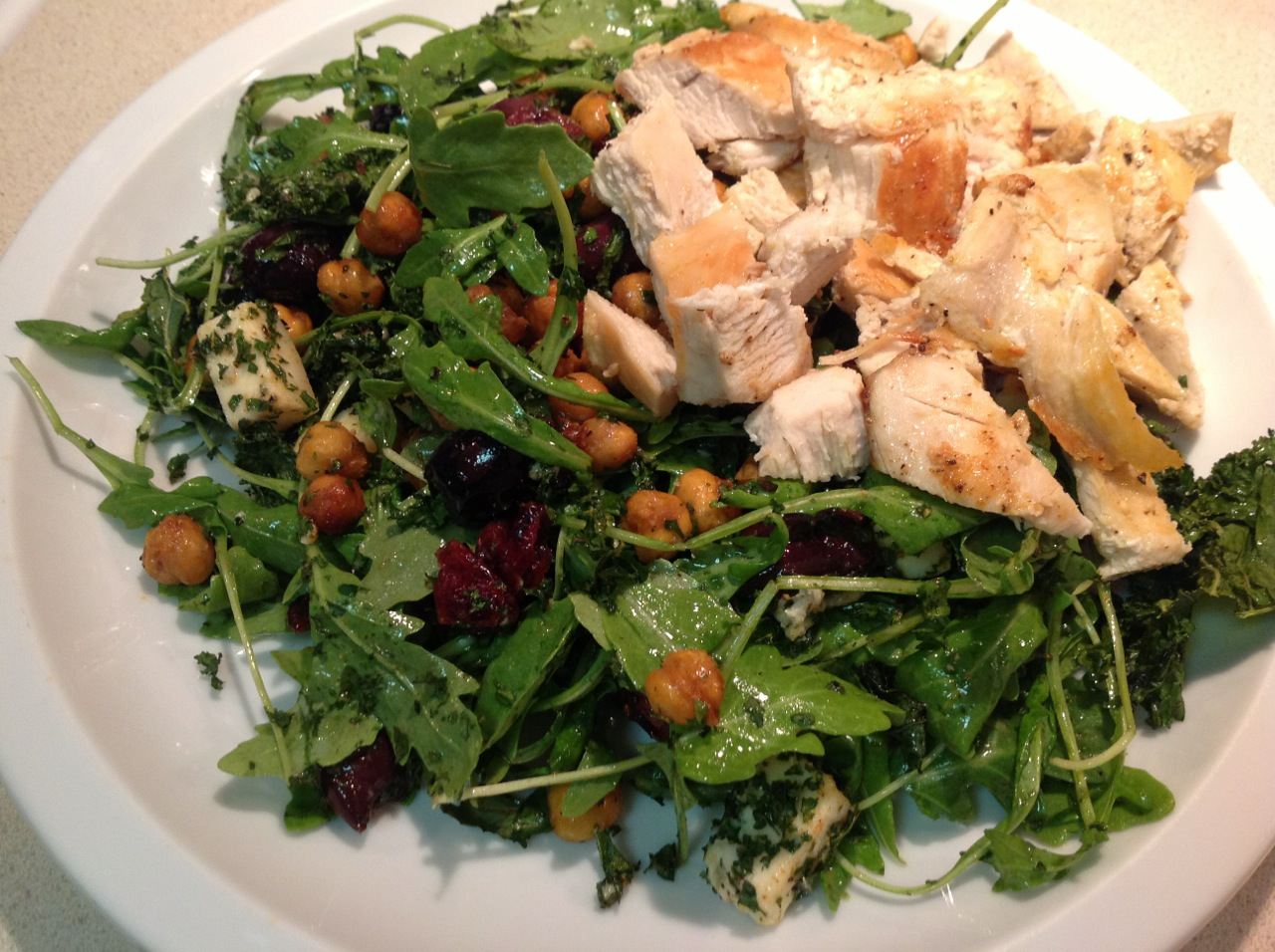 Cook In / Dine Out: Crispy Kale and Roasted Chickpea Salad