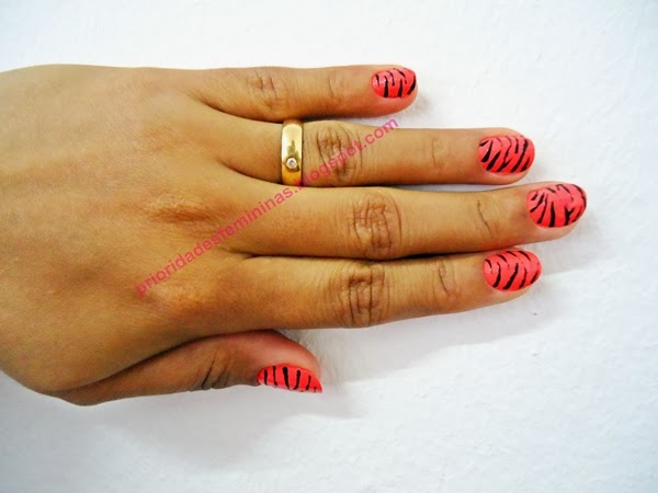 nail art zebra, animal print