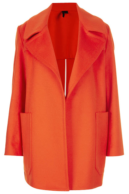 orange wool coat