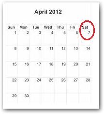 April 7, 2012 holiday