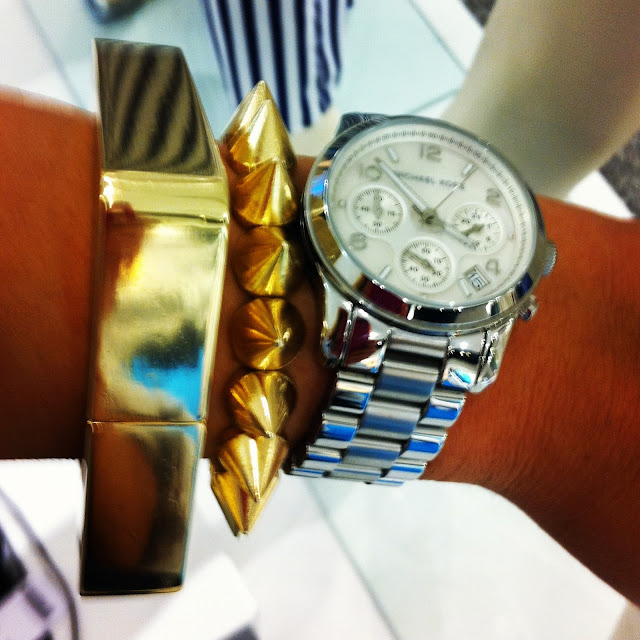 Gold Bracelet Gina Tricot , Michael Kors Watch