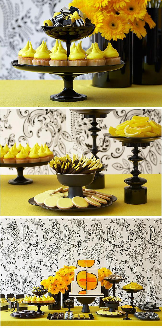 decoracao amarelo branco e preto:aí gostou? Depois postarei mais combinações de cores pra você