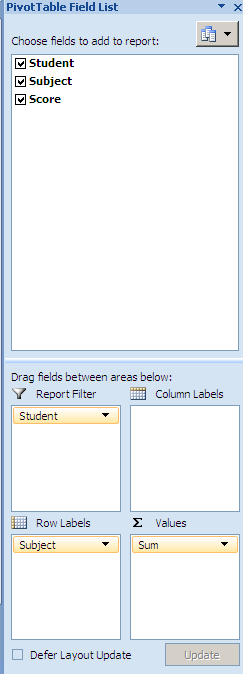 POI - Pivot Table with Filter Information