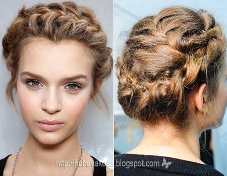 Романтично Updo със сплетена коса- Valentino пролет-лято 2012