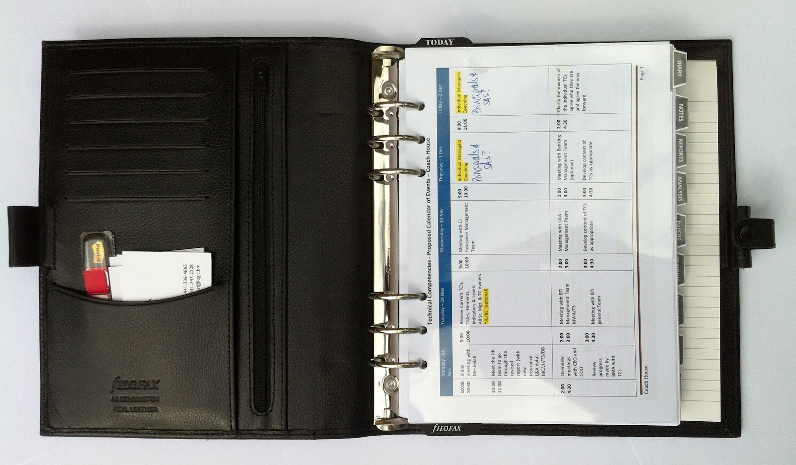 My Life All In One Place A Tour Of My Business A5 Filofax