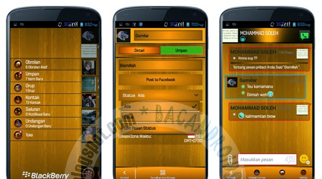 download BBM Mod Tema Goldie Fresh Emotikon Terbaru