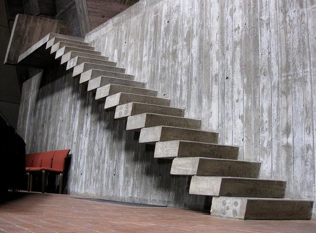 Arte y arquitectura dise o escaleras interiores en hormig n - Moderne buitentrap ...