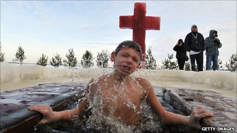 Russia's Trend For Dipping Children In Frozen Rivers