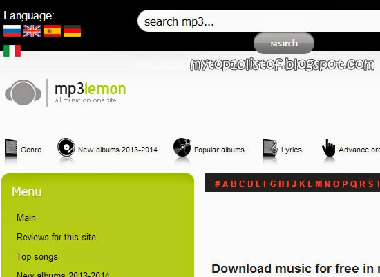 Top 10 mp3 websites to download free music most beautiful