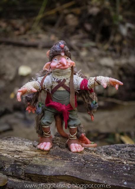 ooak fantasy creature faerie rat
