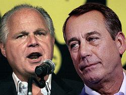 Rush Limbaugh and John Boehner