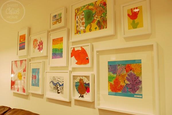 Sweet Chaos Home: Kids Art Gallery Wall