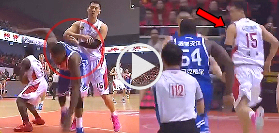 Chinese Player Runs For His Life After Cheap Shot on Jason Maxiell (VIDEO)