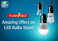 Buy LED Bulb Flash Sale Via askmebazaar at Minimum 63% off at Price ? 330 : BuyToEarn