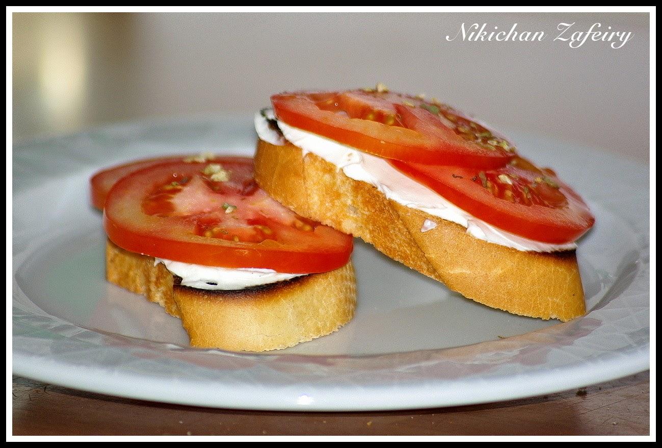 Bruschetta de Tomate y Queso