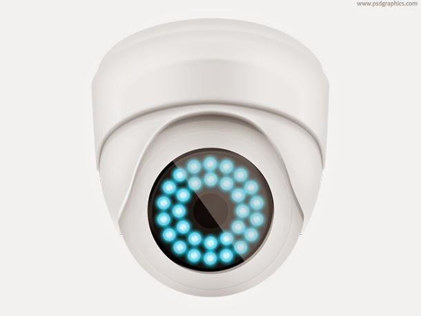 Security Camera Icon PSD