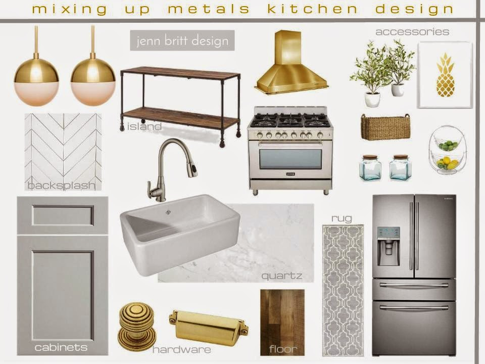 Simply Life Design Mixing Metals Kitchen Design