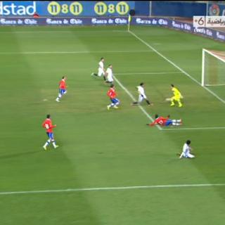 محمد صلاح يسجل الهدف الأول للمنتخب المصري   مصر 1 - 2 تشيلي   تعليق : محمد الكواليني