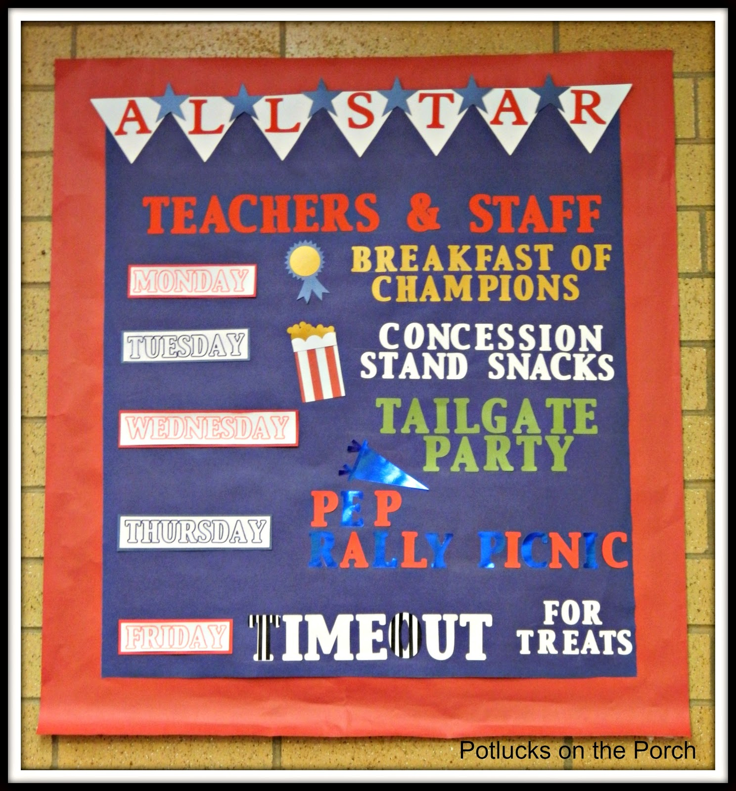 Potlucks On The Porch Teacher Appreciation Week All