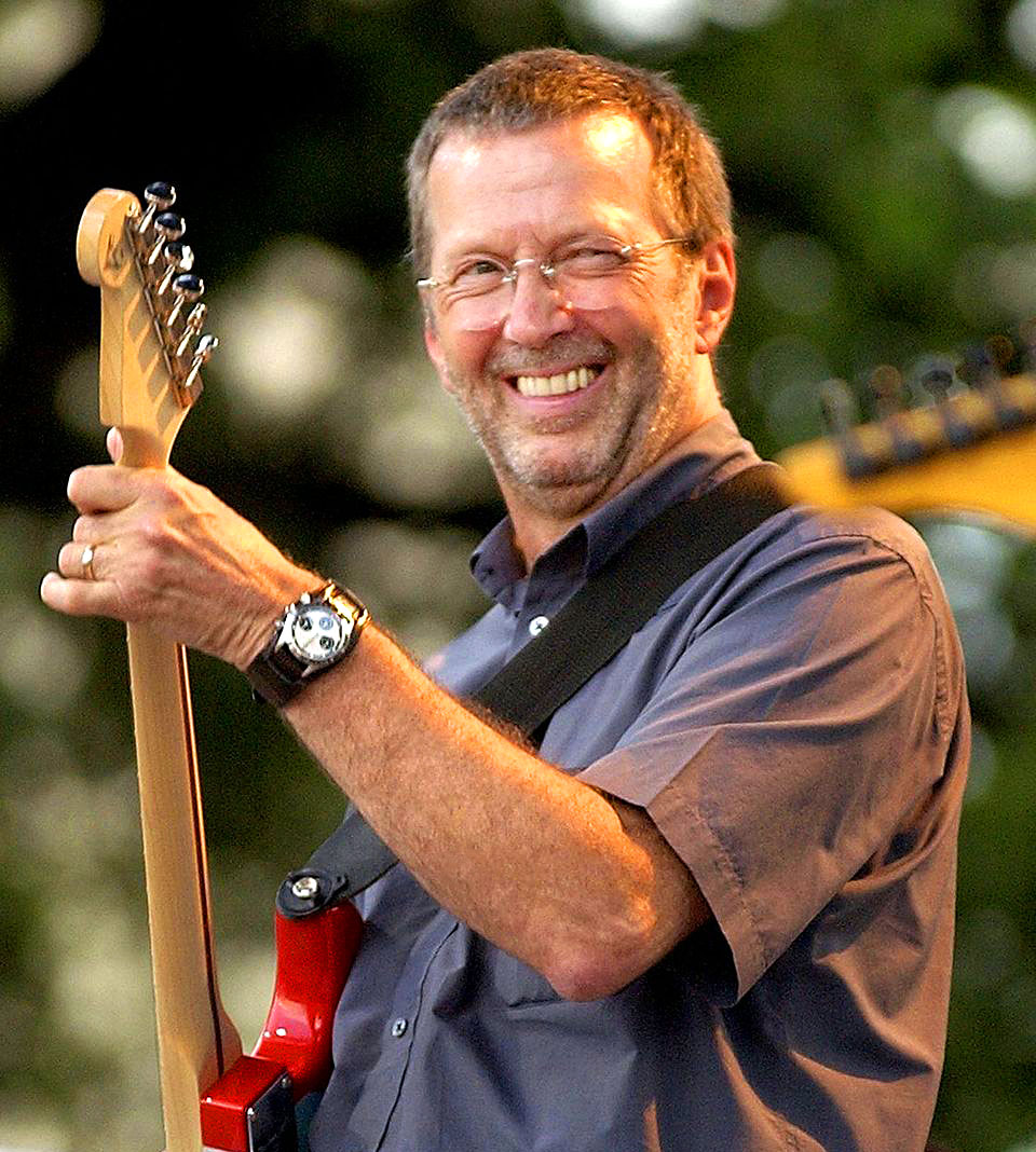 In The Photo Above And Below We See Eric Clapton Sporting His Paul Newman Rolex Daytona On A Fatstrap Exact Way Wore