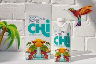 Chi Coconut Water Identity & Package design by: Leahy Brands