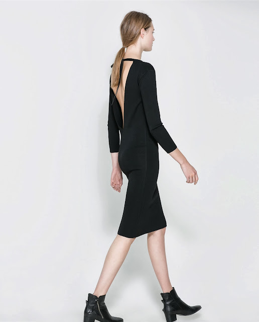 zara dress with back detail