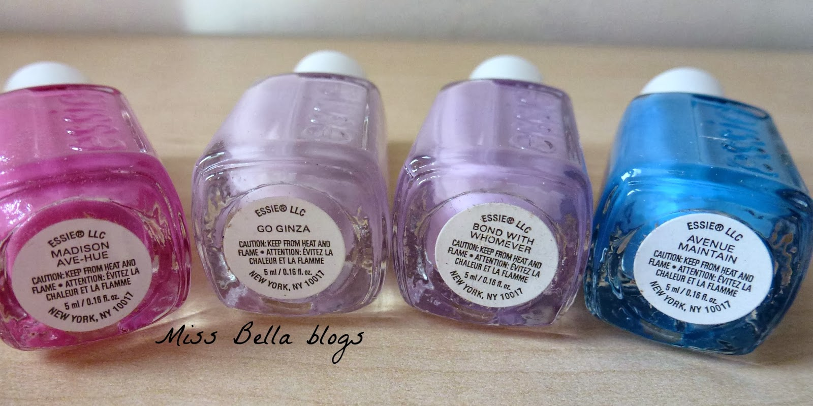 Miss Bella blogs: My Essie Nail Polish Collection