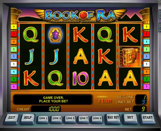 casino online list free games book of ra