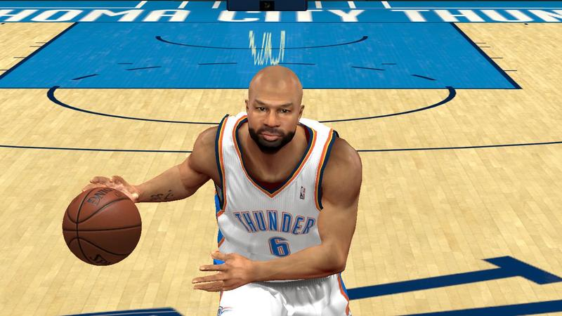 NBA 2K13 Derek Fisher Cyberface with Beard Mod
