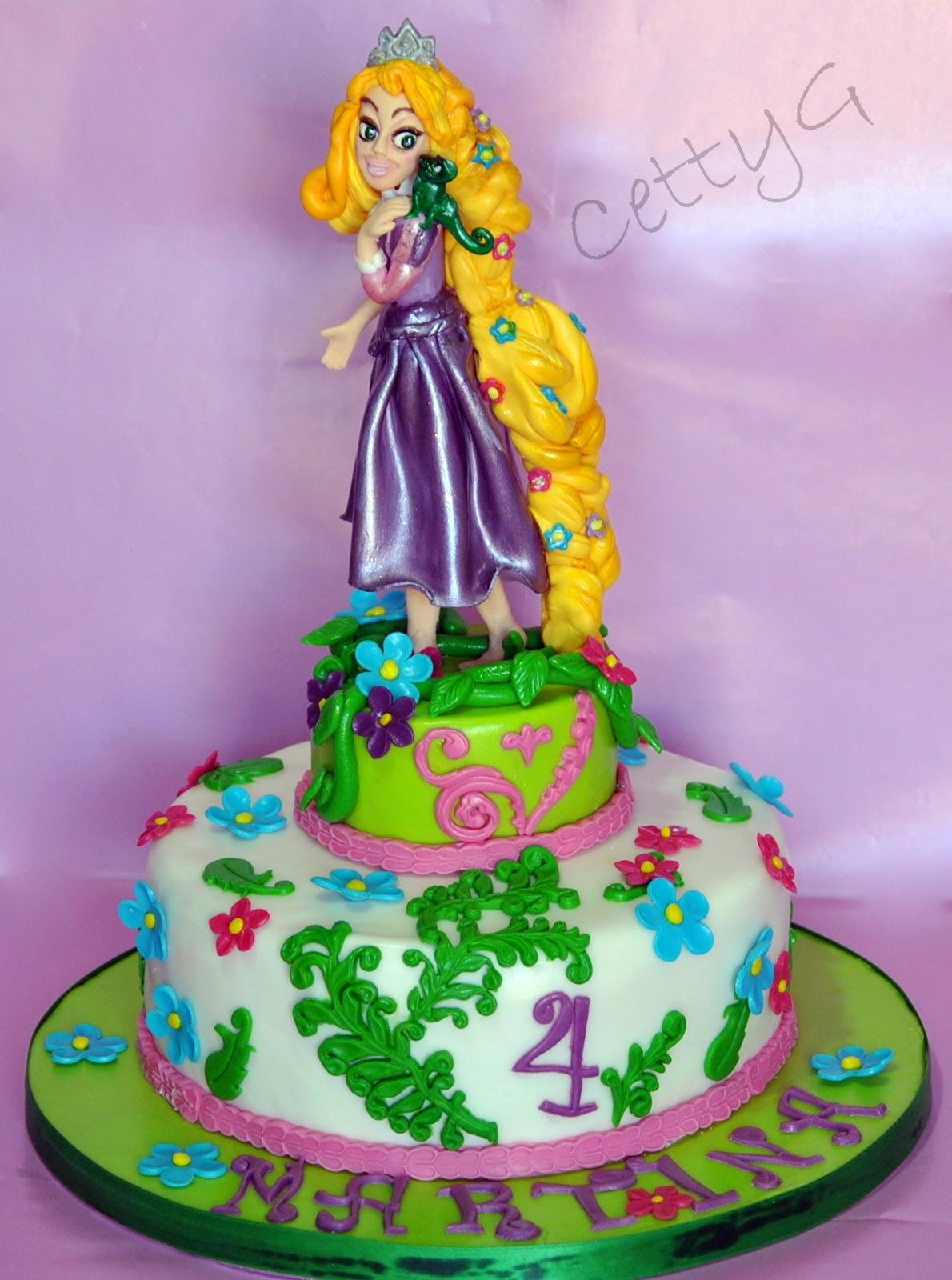 le torte decorate di cetty g rapunzel cake in pdz. Black Bedroom Furniture Sets. Home Design Ideas