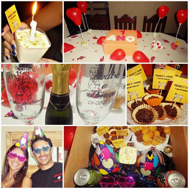como organizar aniversário de namoro