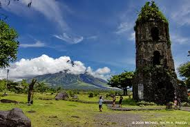 Mt. Mayon, visible at Cagsawa
