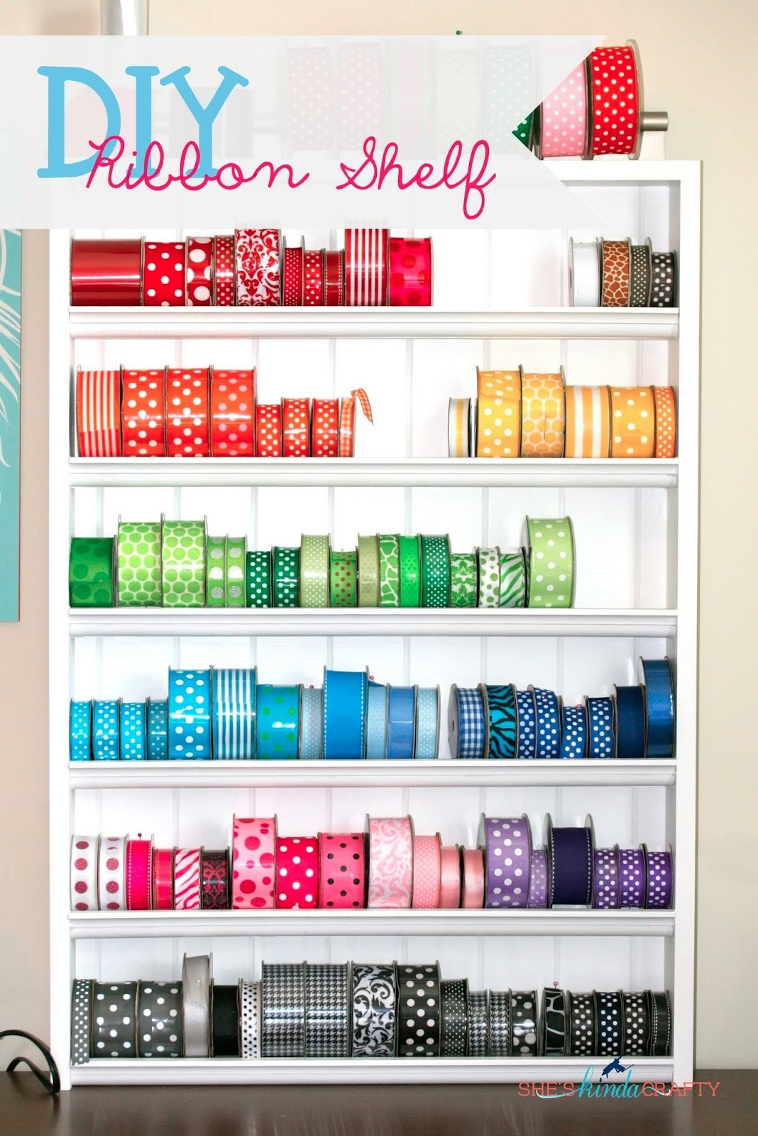 DIY Ribbon Shelf