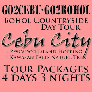 Cebu City + Kawasan Falls Nature Trek + Pescador Island Hopping + Bohol Countryside Day Tour Itinerary 4 Days 3 Nights Package (Check-in at Shangri-La Mactan Resort & Spa)