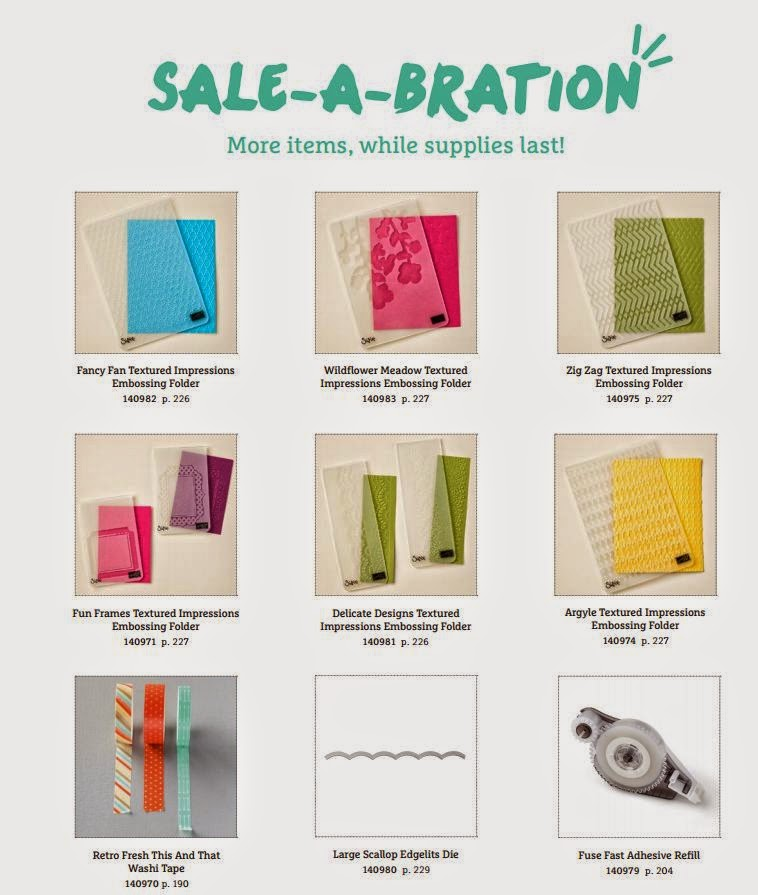 New Sale-A-Bration Choices to replace Blendabilities