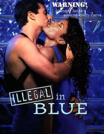 Poster Of Illegal in Blue 1995 Dual Audio 720p  [Hindi - English] - UNRATED Free Download Watch Online Worldfree4u
