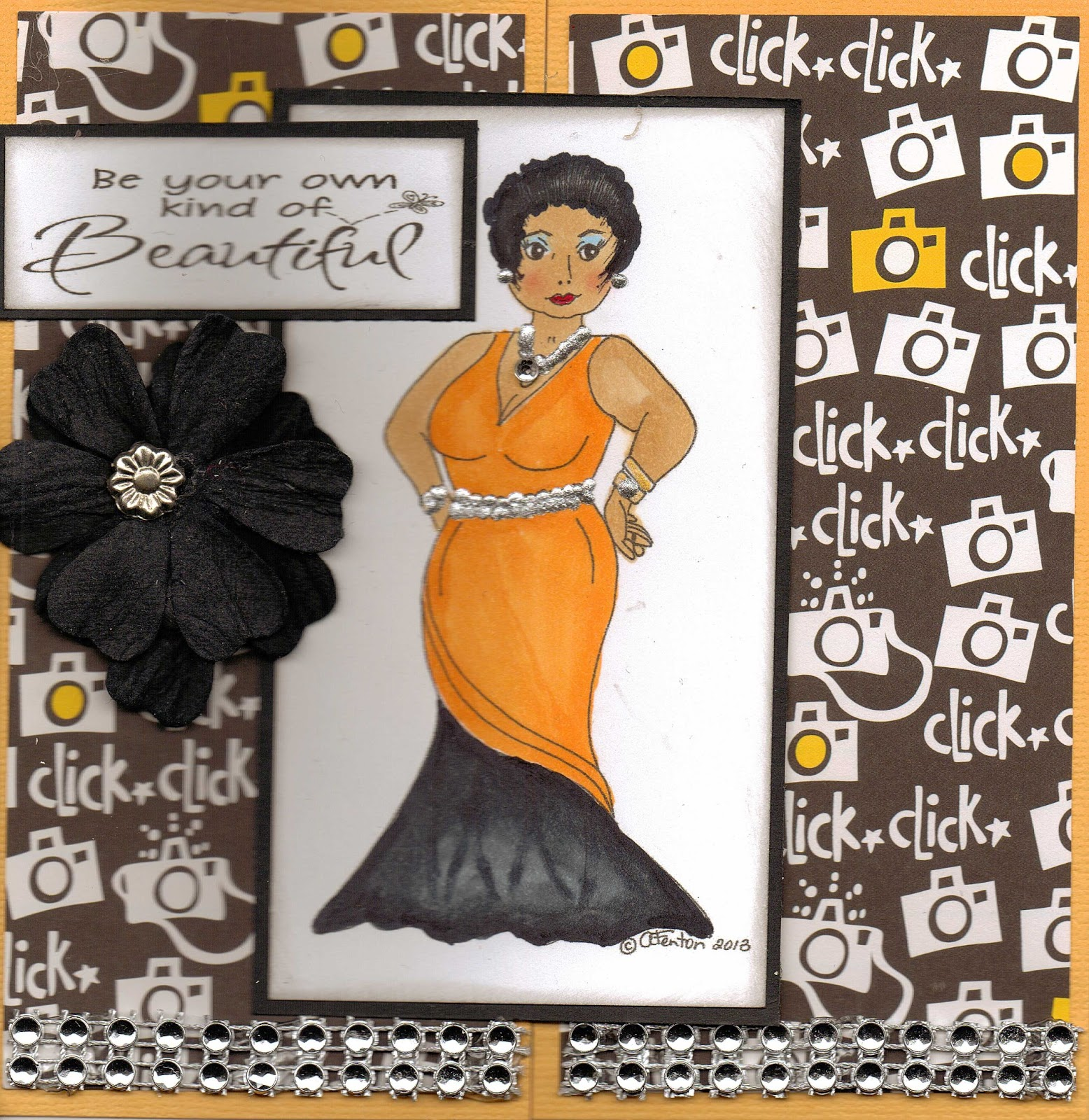 My afrocentric creations birthday cards it is a free image that we can make whatever we want with i made a gate fold card for a friends birthday m4hsunfo