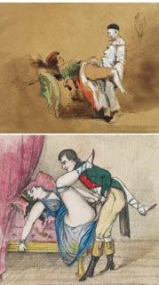 два старинных порнографических рисунка