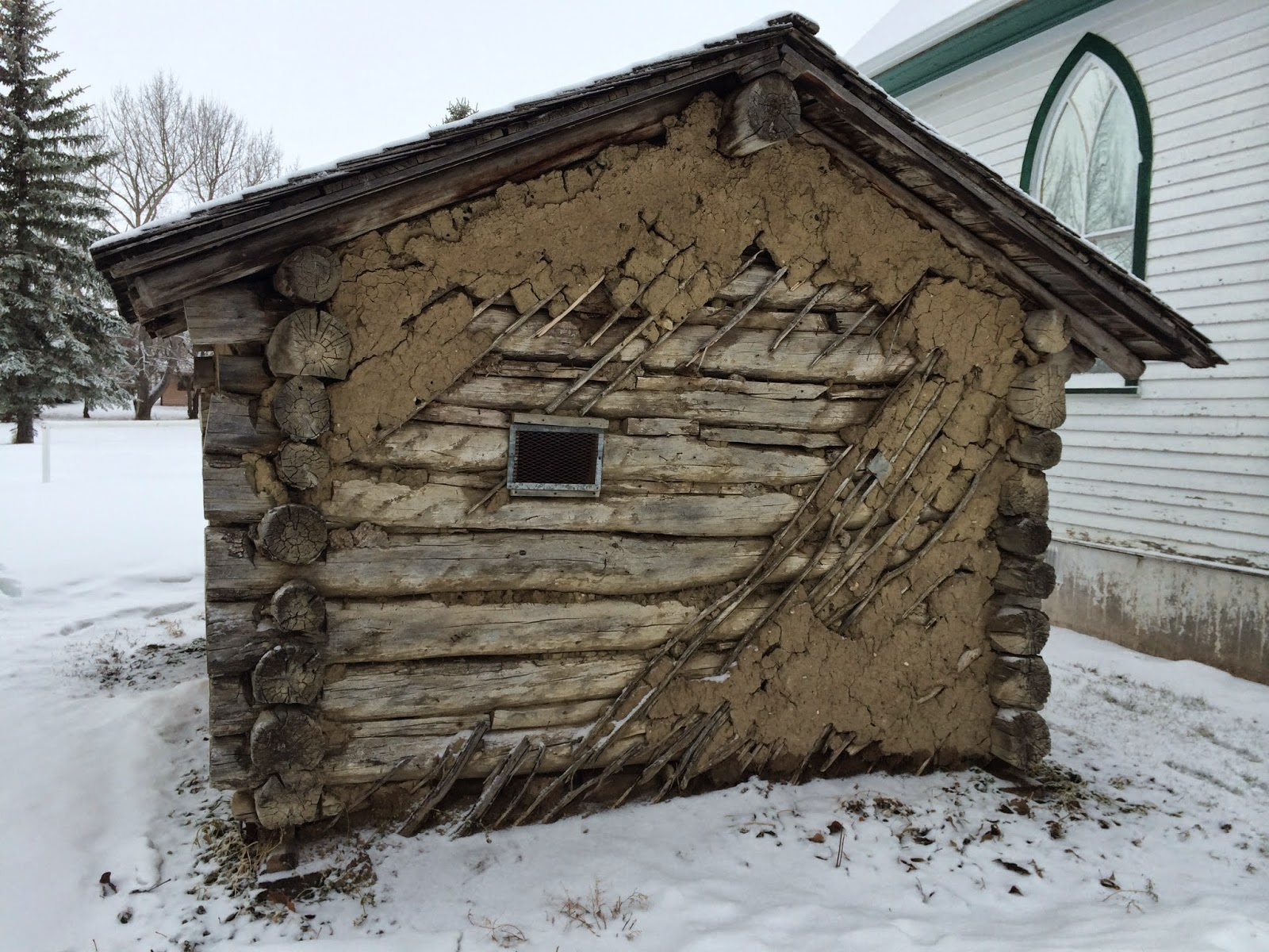 Bert Martin's Cabin, rear wall
