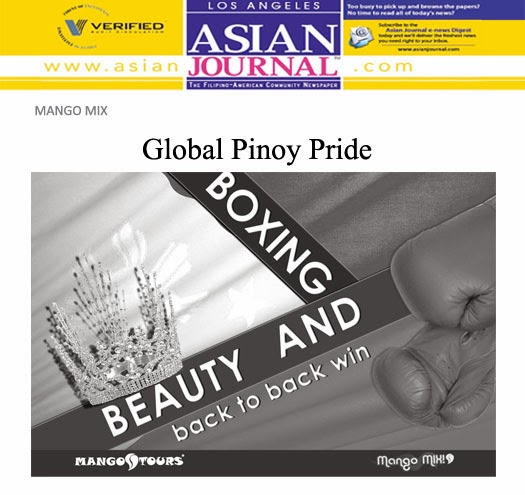 Asian Journal Mango Mix Mango Tours Beauty and Boxing Ariella Arida Nonito Donaire Jr.
