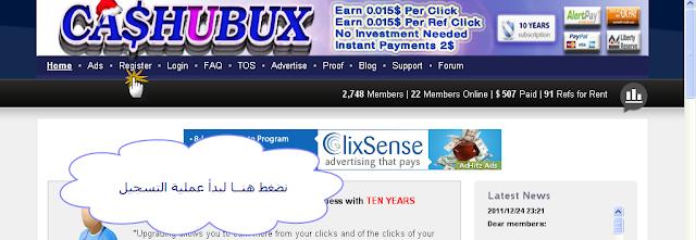 الشركة المصرية الصادقة cashubux ptc1.png