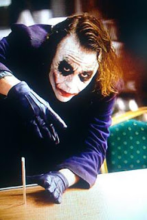 dark knight, batman movie, joker, best villain, heath ledger, pencils, gang, pencil trick, disappearing pencil
