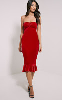 https://www.prettylittlething.com/tawny-red-velvet-bandeau-midi-dress.html